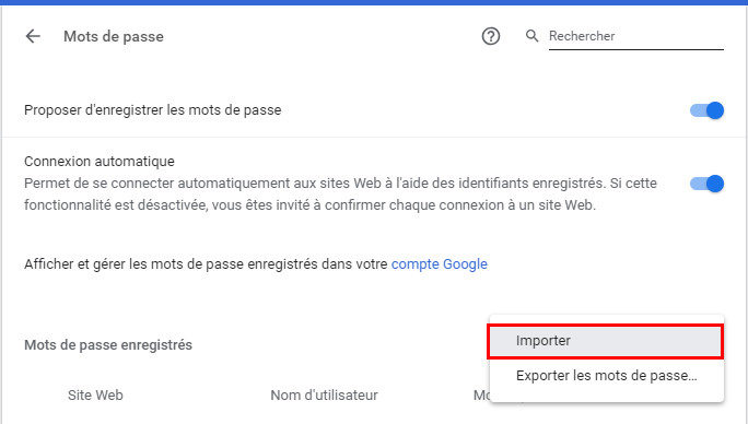 guide importer mdp chrome
