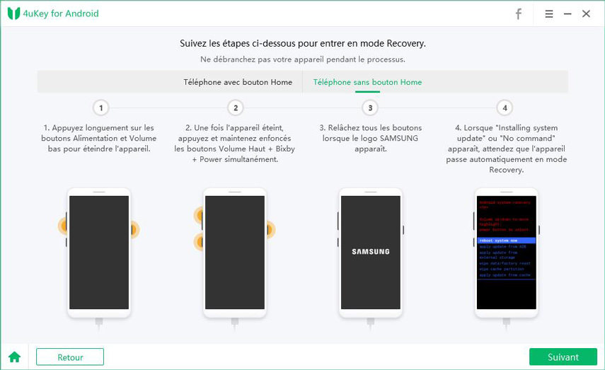guide mode recovery samsung