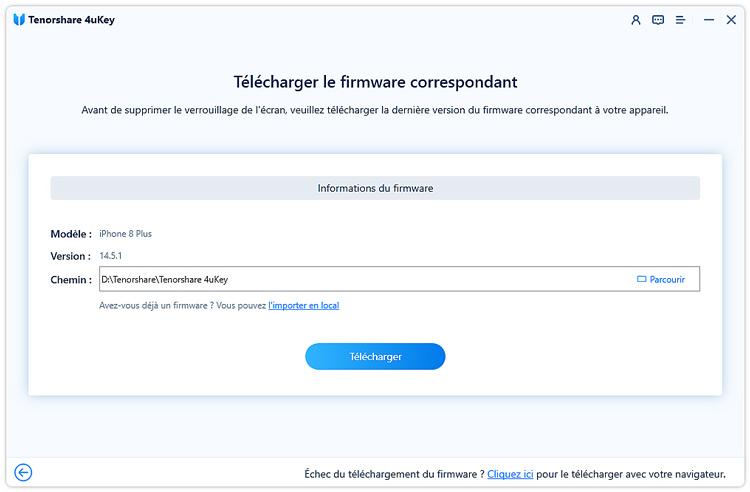 telecharger firmware pour supprimer ecran de verrouillage iphone