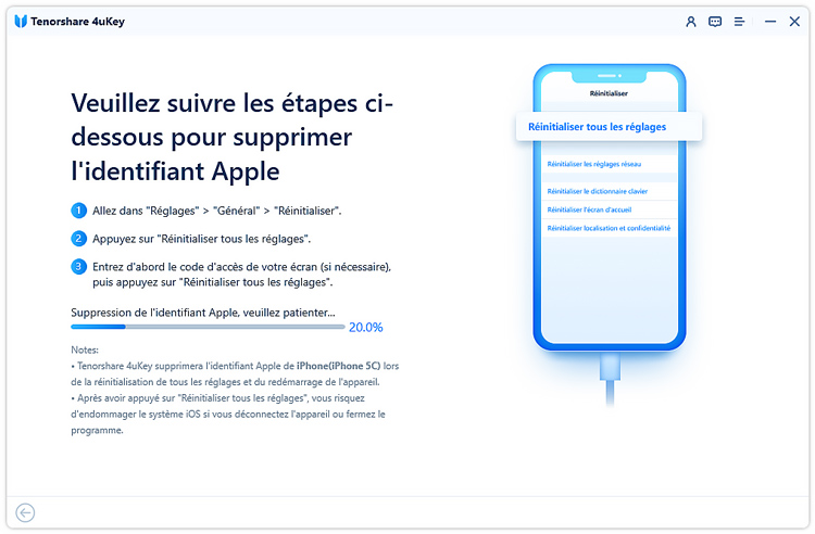 guide supprimer compte icloud