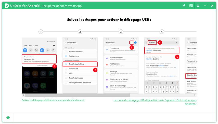 guide restaurer whatsapp android