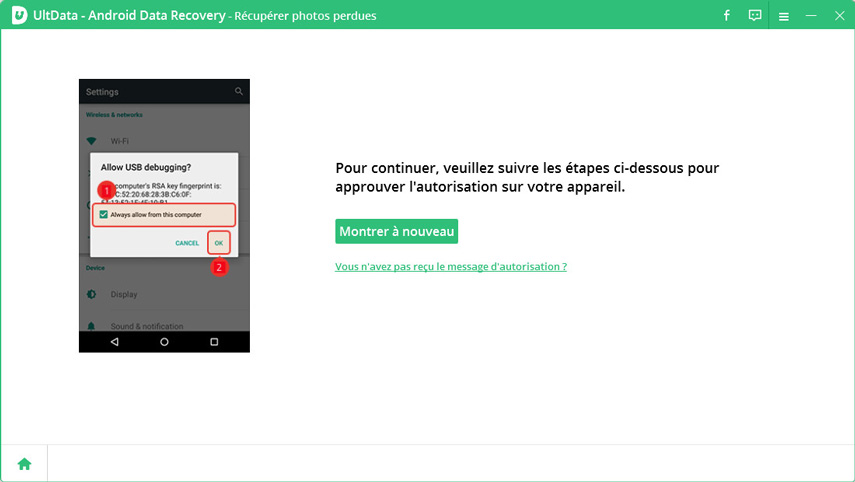 guide recuperer photo android sans root