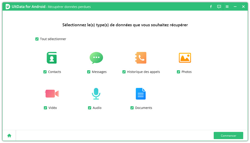 recuperation android avec ultdata
