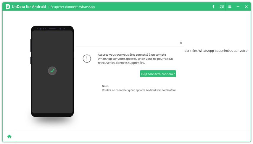 whatsapp connecte pour recuperer des donnees
