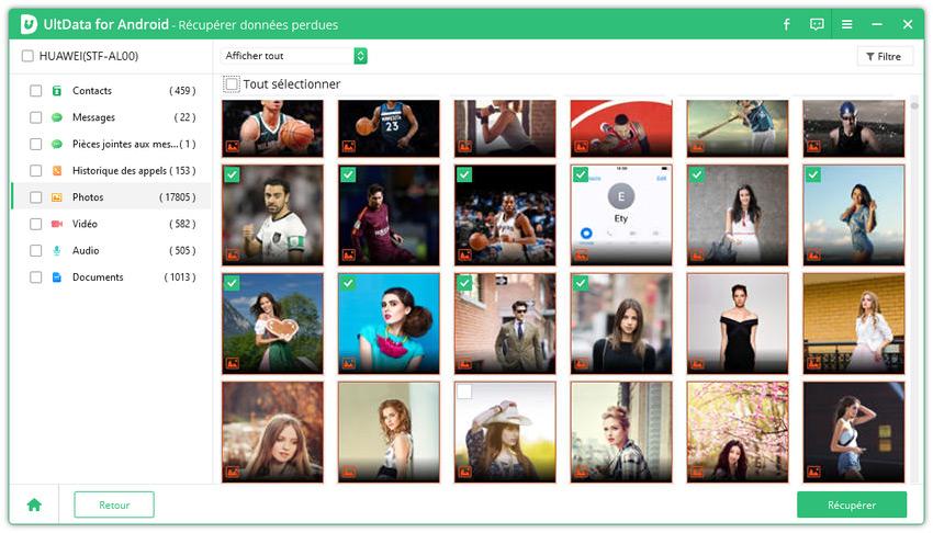 guide prévisualisation des photos supprimées android
