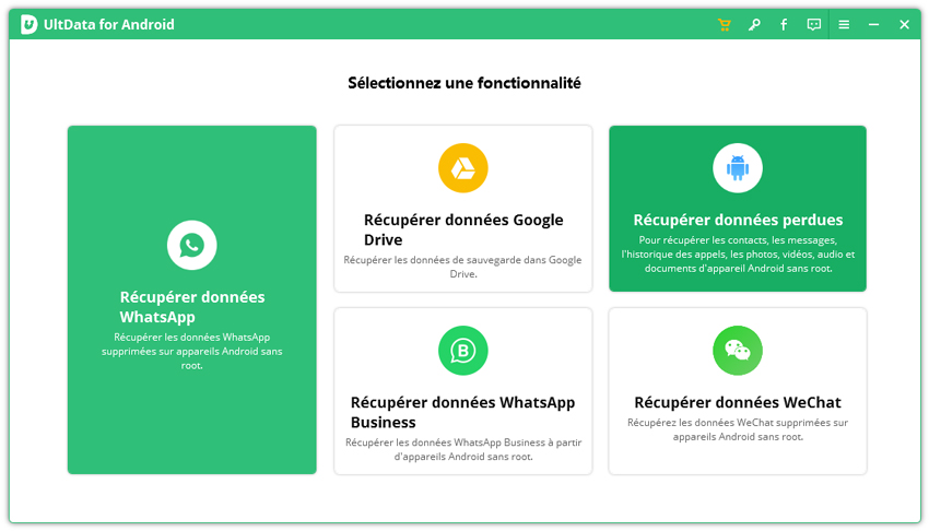 guide de recuperation de données android