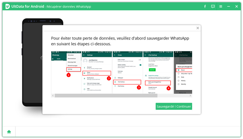 guide sauvegarde whatsapp android