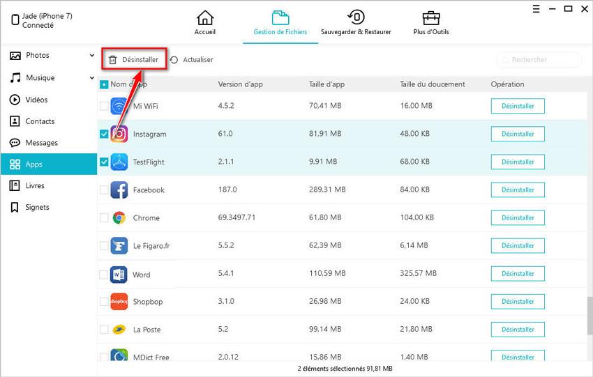 guide desinstaller app