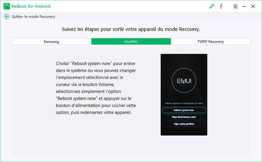 guide mode Recovery huawei
