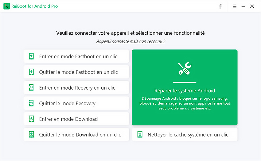 reparer android systeme avec reiboot