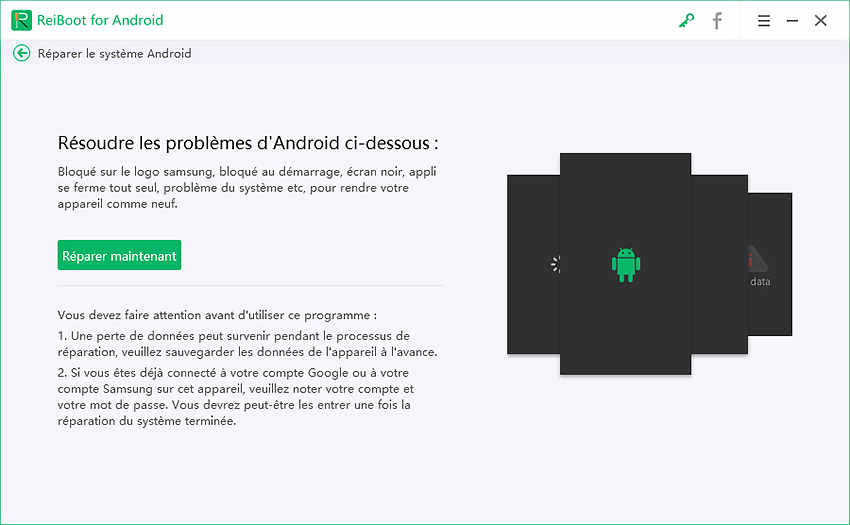 reinitialiser android guide