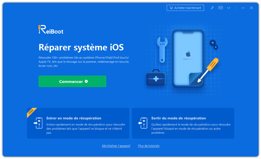 reiboot guide fonction mode recovery