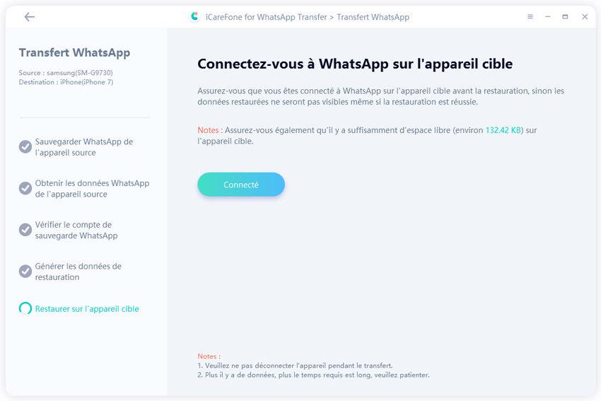se connecter whatsapp sur votre iphone