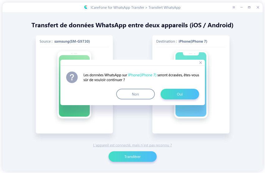 écraser données whatsapp sur ios