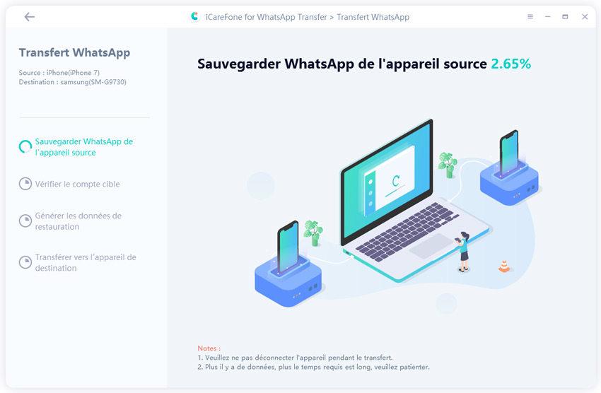 sauvegarder les données whatsapp maintenant
