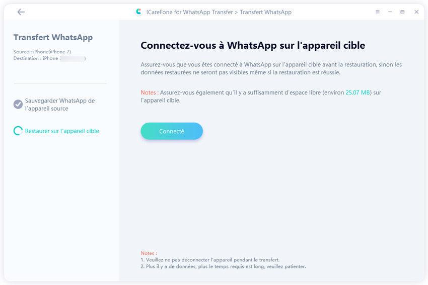 se connecter whatsapp