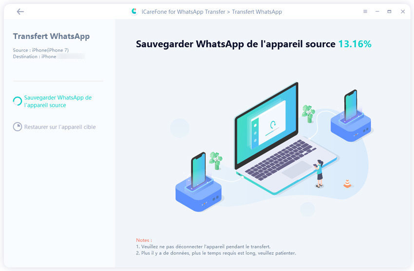sauvegarder données whatsapp avec icarefone