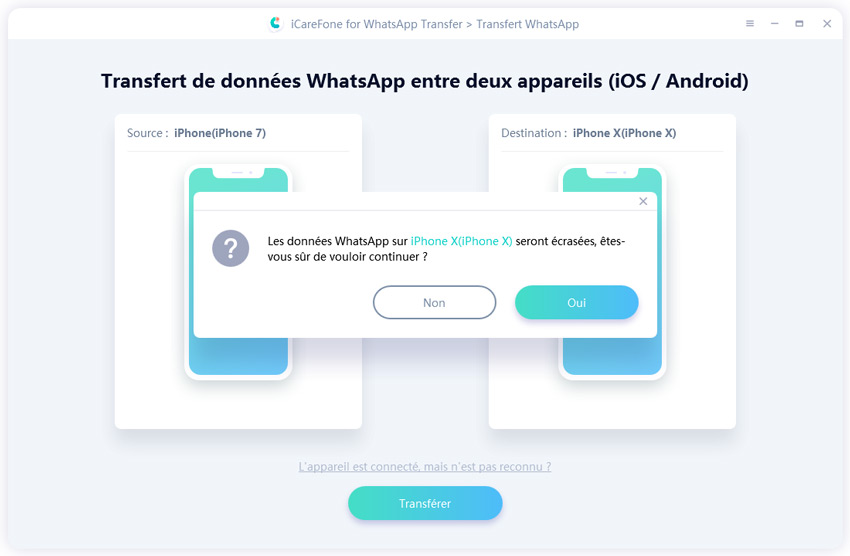 se connecter whatsapp avec icarefone