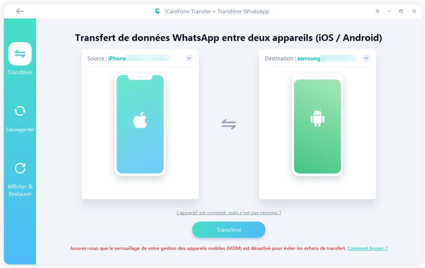 transférer d'iphone à android