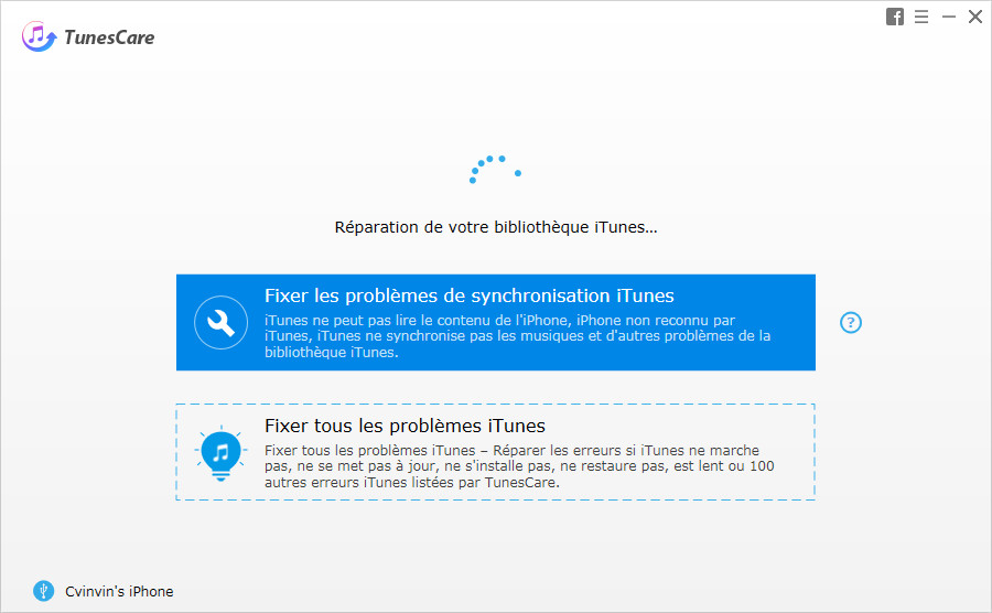 guide reparation bibliotheque itunes