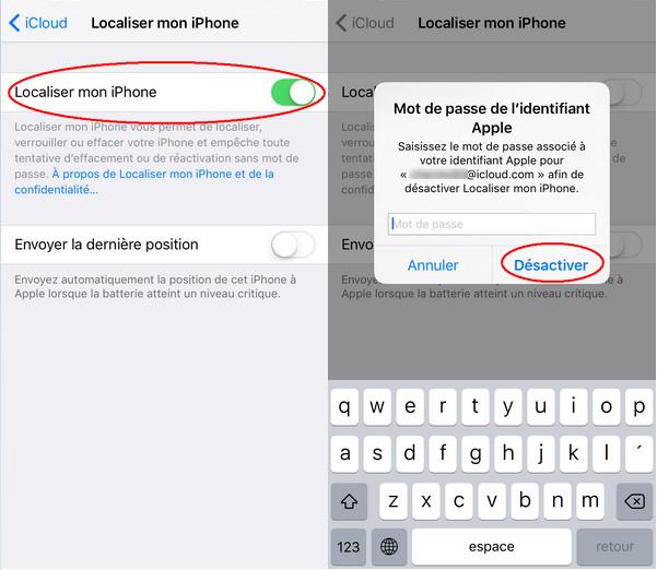 Solution Comment Desactiver Localiser Mon Iphone Sans Mot De Passe