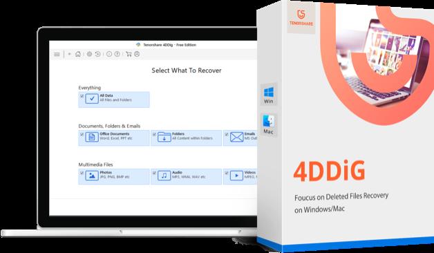 4DDiG - récupération de données mac