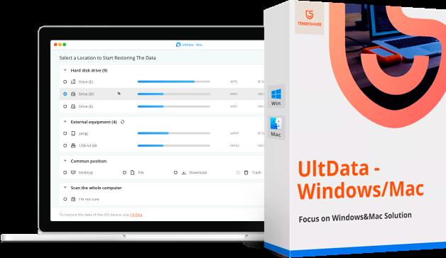 UltData récupération de données mac