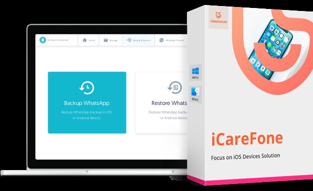 iCareFone gérer le contenu iOS
