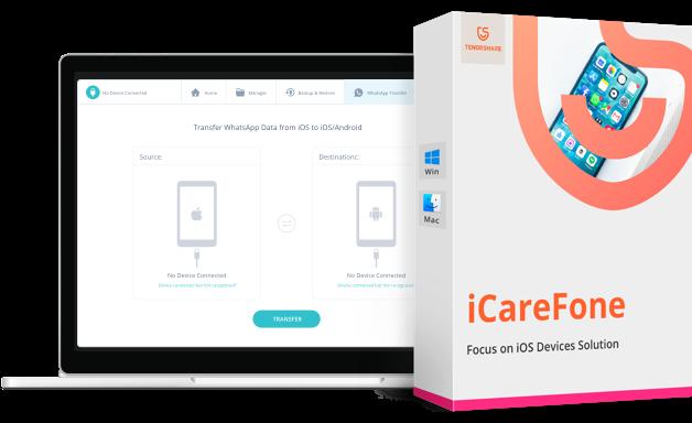 iCareFone whatsapp transfert