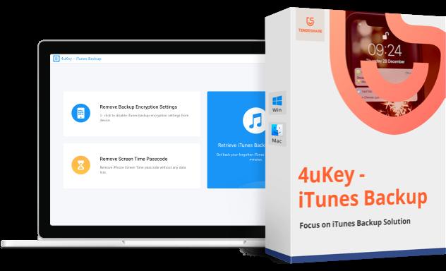 4uKey enlever mot de passe de sauvegarde et code de temps écran