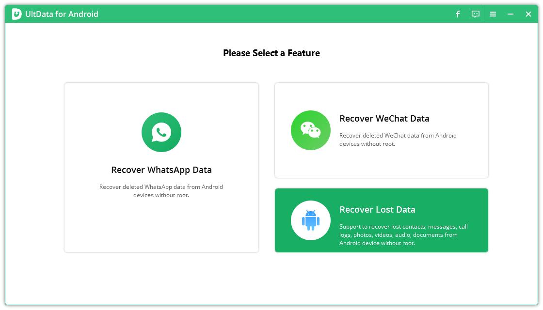 UltData récupérer données perdues de telephone android