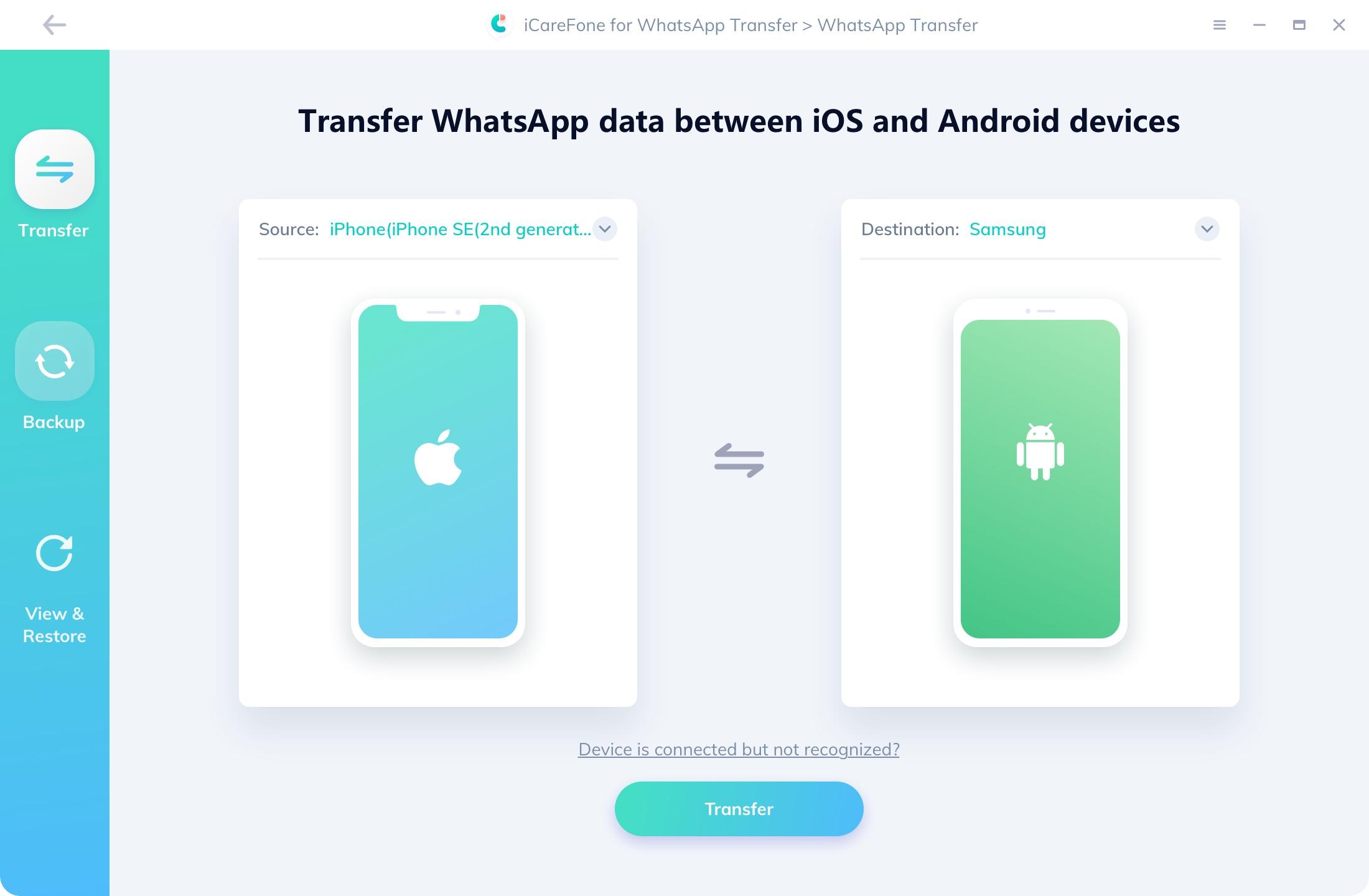 iCareFone whatsapp transférer - guide